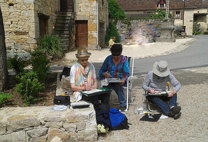 agnes martin genty peintre aquarelle stage faycelles lot carnets voyages