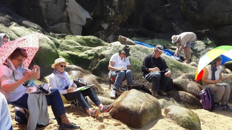 agnes martin genty peintre stage carnet voyage mer quiberon soleil carnet nomade detente rochers