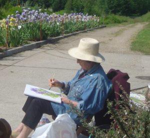 agnes martin genty aquarelle carnet voyage stage iris aquarelle loisirs detente fleurs chemins