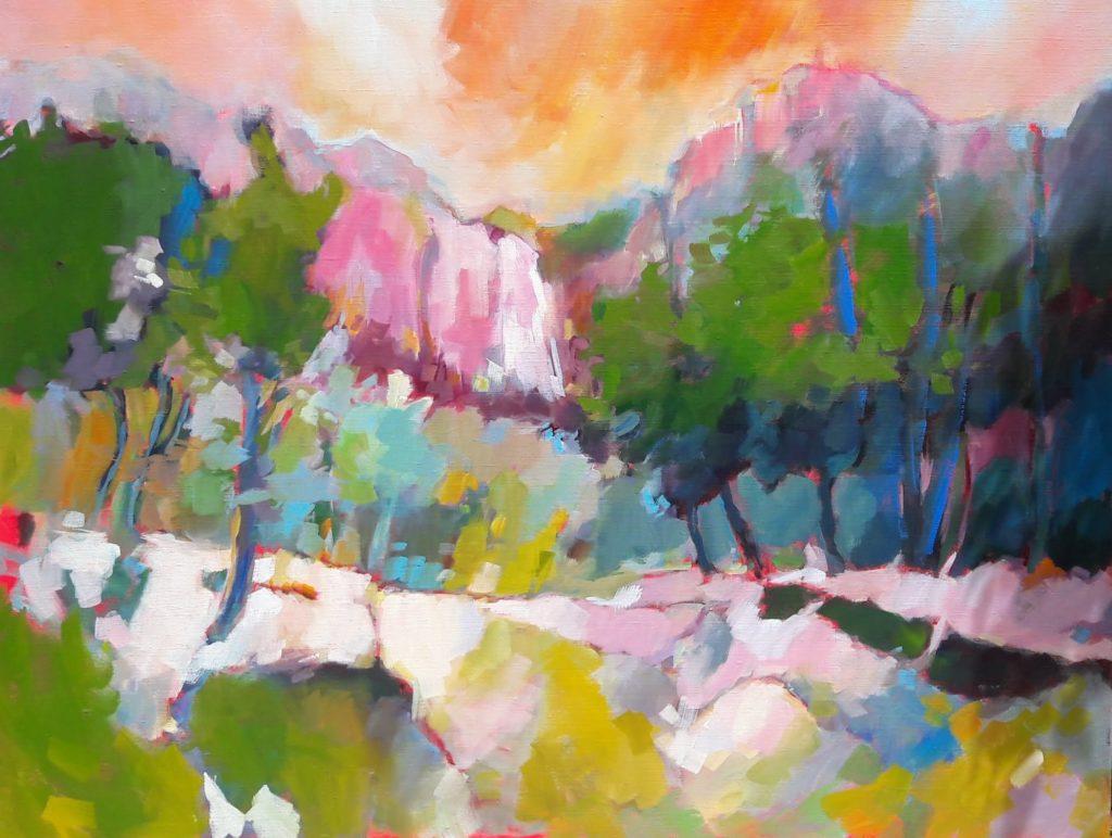 agnes martin genty peintre huile contemporain provence lumiere fauves falaises arbres rochers