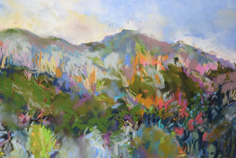 agnes martin genty peintre pastel paysage figuratif lot paysage chemin falaises