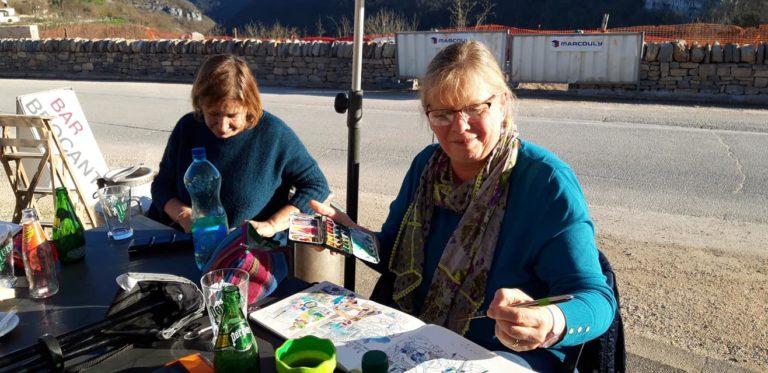 agnes martin genty peintre carnettiste aquarelle croquis urban sketchers