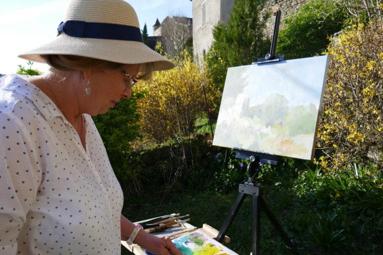 agnes martin genty peintre contemporain peinture huile acrylique croquis margeride chemin de compostelle motif atelier plein air