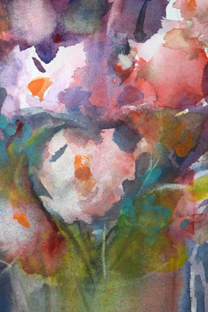 agnes martin genty peintre aquarelle fleurs lumiere roses