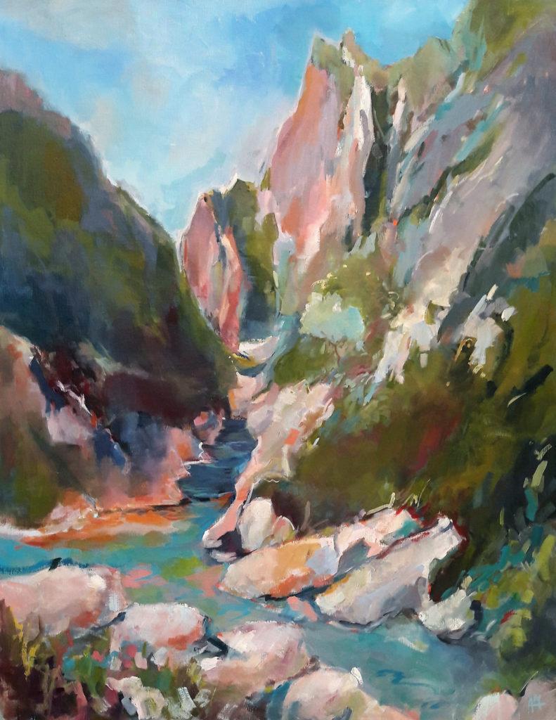 agnes martin genty peintre huile montagnes espagne canyon