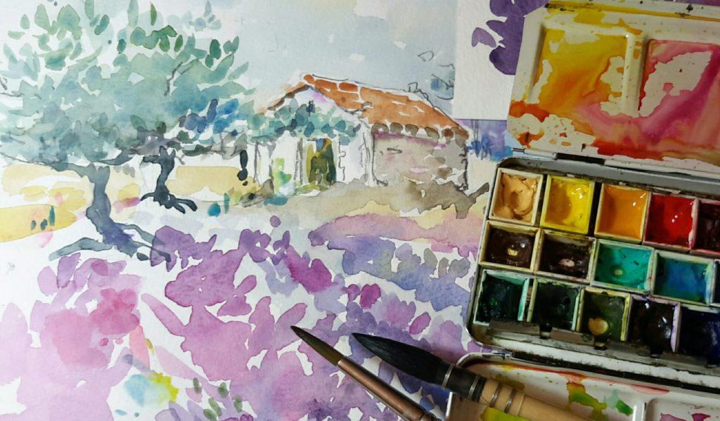 agnes martin genty peintre carnet de voyage provence aquarelle
